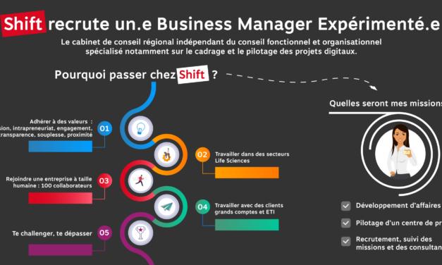Shift recrute un(e) Business Manage expérimenté(e) !