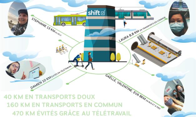 ZOOM : Shift participe au challenge mobilité